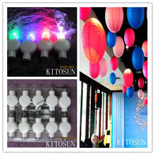 Factory Supplier 100pcs/pack Multi-color Waterproof Mini Led Floralyte Hanging Paper Lantern Lights For Festival Decorations