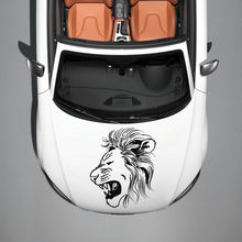 ANIMAL LION PREDATOR WILDCAT ART DESIGN HOOD CAR VINYL STICKER DECALS SV1237