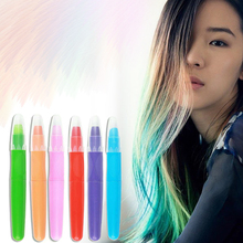 6 Colors Fashion Hot Fast Non-toxic Dye Pastel Hair Temporary Color Crayon One-time Hair Dying Pen A6