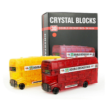 3D Crystal Puzzle For Children Fashion DIY 54Pcs Double-Decker Bus Model Decation Toys For Adult Christmas Gift