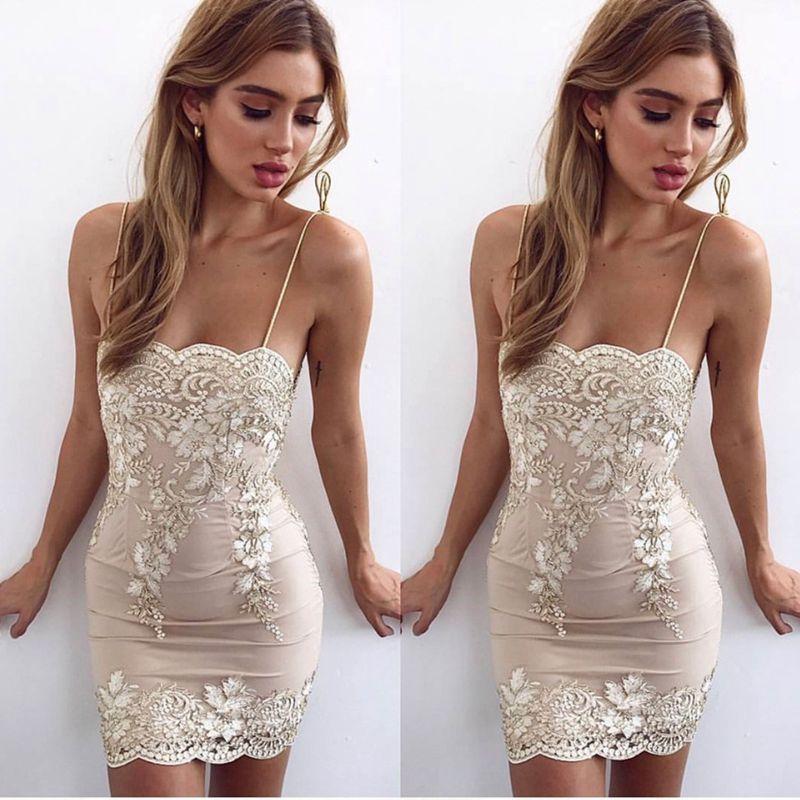 Strap Embroidery Lace Sexy Women Mini Dress 2017 New Autumn Elegant Sheath (7)