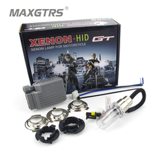 HID Motorcycle Scooter Headlight Kit 35W 3600LM H6 BA20D Hi/Low Xenon Bulbs For Yamaha H4 BA20D Moto Headlamp Front Bulb Ballast