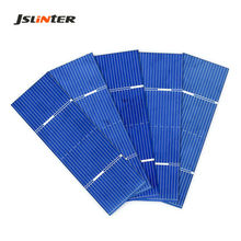 JSLINTER 100pcs Mini Solar Cell Polycrystalline Silicon Battery China Photovoltaic Cells for DIY Solar Panel 0.5V 0.37W 78x26mm