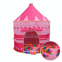 Children's  Castle  Tents  game House for baby outdoor toys 2 Colors Play Tent Portable Foldable Tipi Prince Folding Tent   TE15