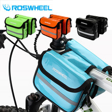 Buy ROSWHEEL Cycling Frame Bag Waterproof Bicycle Top Storage Pouch Saddle Bags Tube Pannier Bycicle Bolsa 8 Color for $9.99 in AliExpress store