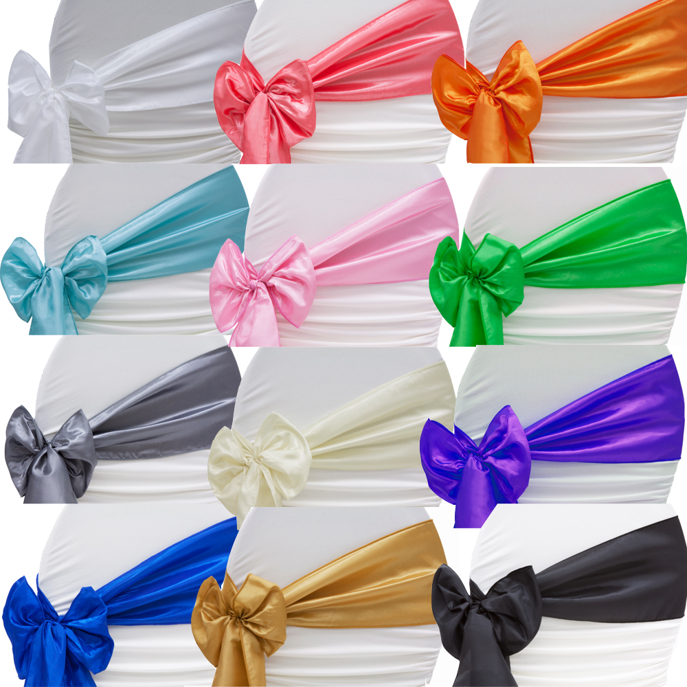 SATIN-BOWS-100pcs-turquoise-Wedding-Satin-Chair-Sash-Satin-Sash-for-Wedding-Events-Banquet-Party-Decoration