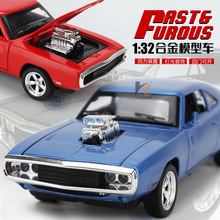 So Cool 1:32 American muscle car modified cars 1970 dodge alloy pull back with light and sound children gift