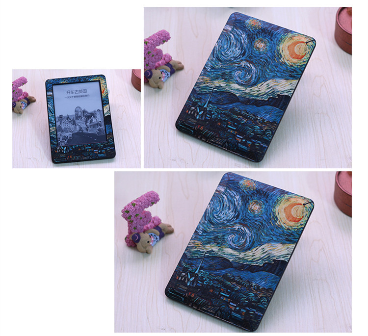 New Fashion Ebook Kindle Paperwhite Skin Kit/Decal -Starry Night &amp; Van Gogh, Abolisher Cartoon Full Body Skin Reader Sticker<br><br>Aliexpress