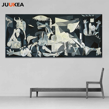 Spain France Picasso Classic Guernica 1937 Germany Figure Canvas Art Print Painting Poster, Wall Picture For Home Decoration(China)