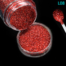 Tracy Simple Nail 1 Bottle Shining Pigment Powder Hot Red Nail Art Glitter Dust Flakes Dazzling Diamond Makeup Manicure TRL08(China)