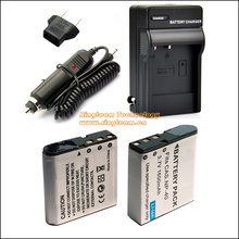 4-In-1 NP-40 CNP40 Digital Battery 2x & Travel Charger & Car Charger Adapter for Casio Cameras 55 57 Z100 Z300 Z400 Z450 FC100