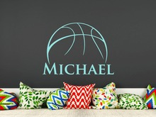 Buy Basketball Vinyl Wall Decal Personalized Wall Decal Boys Room Kids Name Removable Nursery Rooms Home Decor Sport Basketball SY23 for $5.31 in AliExpress store