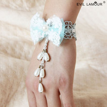 Summer Style Mesh Lace Bangles Bracelets for Women Party Jewelry Accessories Hand Craft Fashion Charm Bracelet Brand WS-45
