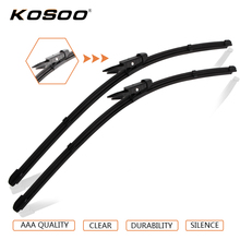 "KOSOO Auto Wiper Blade For OPEL Zafira B (2005-),28""+22"" 2pcs Soft Rubber Windscreen Wipers Windshield Blades Car Accessories(China)"