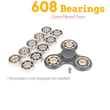 10Pcs Super Fast Skate 608 Bearing For Led Light Aluminium Batman EDC Hand Spinner Fidget Spinners Anti Stress Finger(China)