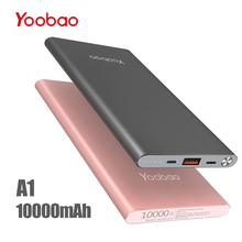 Yoobao A1 Power Bank 10000 mAh Fast Charge Pover Bank Portable Charger External Battery PowerBank For iPhone X 8 7 For Xiaomi Mi(China)