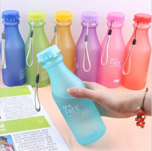 Portable BPA Free 550ML Plastic My Water Bottle Tour Sport Juice Milk Beer Bottle Drinkware for Kids & Adults High Quality(China)