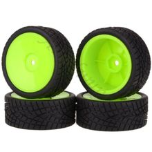 New 4PCS Rubber RC Racing Tires Car On Road Wheel Rim Fit For HSP HPI 901G ALL 1/10 HSP 94123/94122/94103/D4/D3