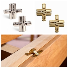 2pcs Invisible Cross Hinge Hidden Hinges Concealed Cabinet Cupboard Door Wooden Boxes M42x11.5mm ZXY9203(China)