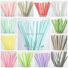 New Hot 25pcs/lot Chevron Paper Straws For Kids Birthday Wedding Decoration Party Straws Event Supplies Creative Drinking Straws