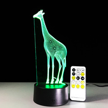 3D Lamp Giraffe 7 Color RGB Led Night Lamps for Kids Touch Led USB Table Lampara Lampe Baby Sleeping Nightlight Novelty Lamp