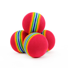 10pcs Pet Rainbow Foam Fetch Ball Training Interactive Dog Toy Rainbow Play Balls for Puppy poodle toy drop shipping