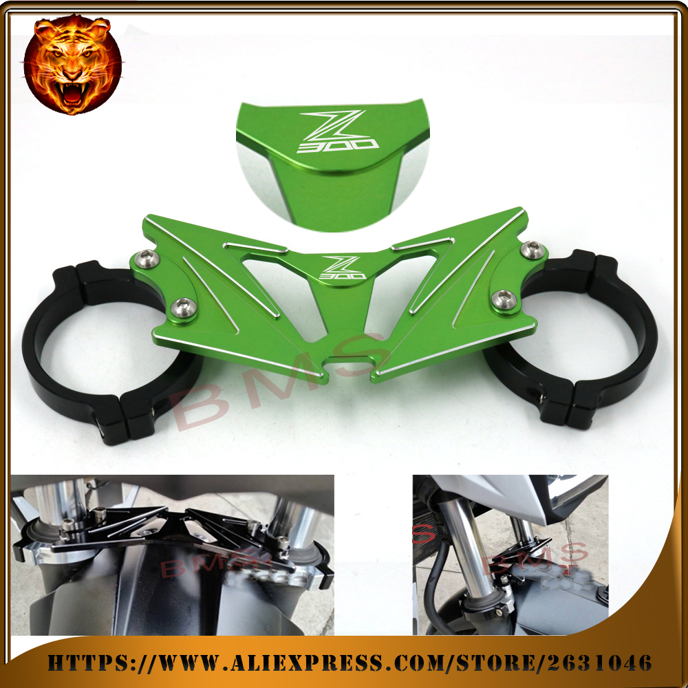 Motorcycle Accessories BAlANCE Foreshock FRONT FORK BRACE For KAWASAKI Z300 2015 2016 With logo free shipping green black new<br>