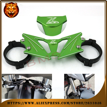 Motorcycle Accessories BAlANCE Foreshock FRONT FORK BRACE For KAWASAKI Z300 2015 2016 With logo free shipping green black new(China)
