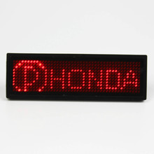 5 different colors usb rechargeable multi-language LED Name Badge with scrolling message(China)