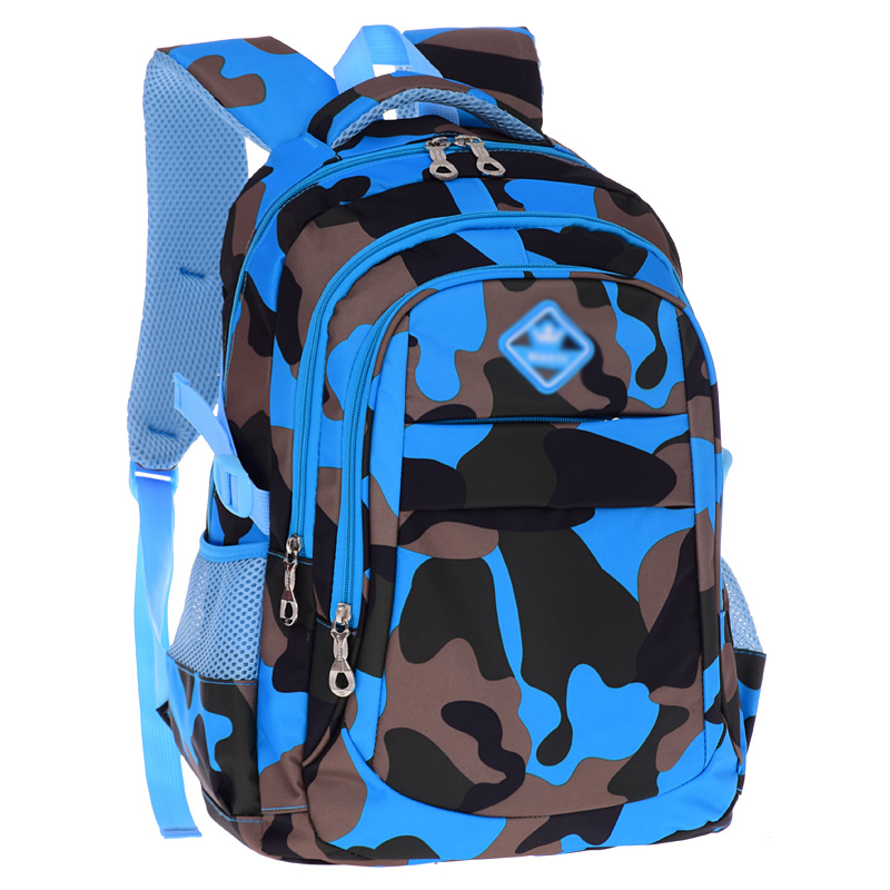 MLITDIS Boys Backpack canvas bags 1-3-4-6 grade boys and girls children spinal camouflage bag shoulders the burden.<br>