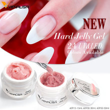 VENALISA 30ml French Tips Hard Jelly Gel 24 Camouflage 60930 CANNI Nail Art Manicure Nail Builder Extending UV LED Gel Polygel
