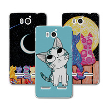 "Cute Painted Dog Bear Cat Case For Huawei Honor 2 U8950 U9508 Ascend G600 Case Cover Hard Plastic Funda Huawei U9508 4.5""+Gift"