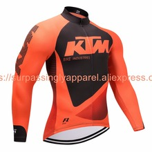 2017 Pro Team Outdoor Sports Cycling Jersey Spring Autumn Bike Bicycle Long Sleeve MTB Clothing Shirts Wear KTM Bike Jersey(China)