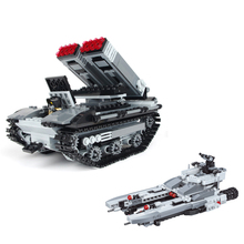 549pcs Military Land Tank Armed Blocks Toy for Children Enlighten Building Blocks Fighter Spacecraft Brick Boys Gift K0421-29025(China)