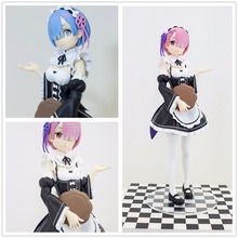 Anime Re:Life in a Different World From Zero Ram Rem maid PVC ACTION Figure Resin Collection Model Toy Gifts Doll Cosplay
