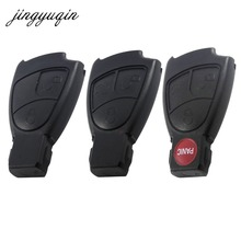 jingyuqin 10pcs/lot 2/3/4 BTN Remote Smart Car Key Shell Fob Case Mercedes Benz B C E S R CL GL SL ML CLK SLK Black
