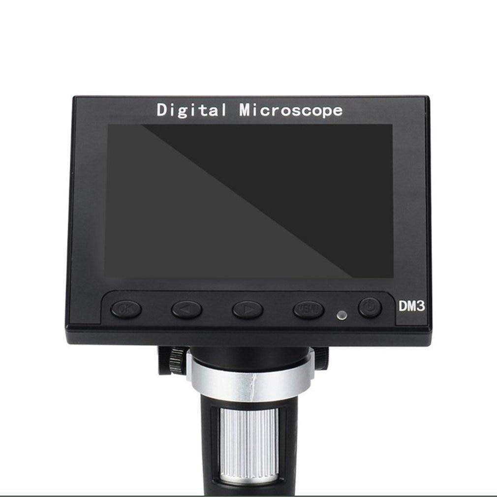 DM3 Digital USB Microscope 5MP 1000X Digital Electronic Microscope 4.3 Display Magnifier with LED Light 1920X1080p