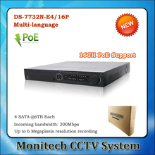 Buy Multi-language DS-7732N-E4/16P 32CH NVR 16 POE Port HD IP Camera Surveillance Video Recorder Multi-language 4 SATA HDD for $325.00 in AliExpress store