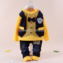 Free shopping cotton Spring 2014 Korean version of the children's leisure clothing sets baby boy suit vest gentleman