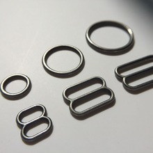 Free shipping 100 pcs / lot bra Gun metal Colour rings and adjusters lingerie sliders(China)