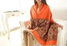 Winter Large Size Lace Scarf Women's Shawl Capes Printed Scarves Wraps Female Pashmina SCARF-870133