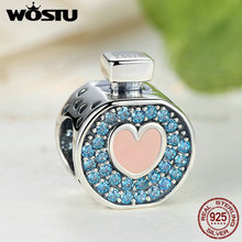 100% 925 Sterling Silver Sweet Love Perfume Bottle Charm Beads Fit Original WST Bracelet Pendant Authentic Jewelry Gift(China)