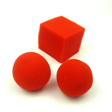 Free shipping Sponge ball to cube magic tricks products Sponge tricks Set magic tricks magic props(China)