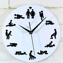 Novelty Design 1PC Sex Position Clock Novelty Silent Wall Clock For Wedding Lover Sexual Culture Wall Watches Home Decor