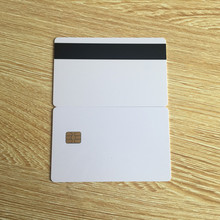 10pcs White SLE4442 contact chip pvc smart card with Hico magnetic stripe