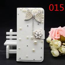 25 Styles For China Mobile M812 M812C Handmade Bling Glitter Rhinestone PU Leather Diamond Luxury Filp Cover Wallet Case DIY