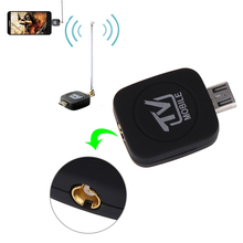 Mini Micro USB 2.0 DVB-T Digital TV Tuner Receiver with Antenna for Android Phone Tablet PC Black(China)