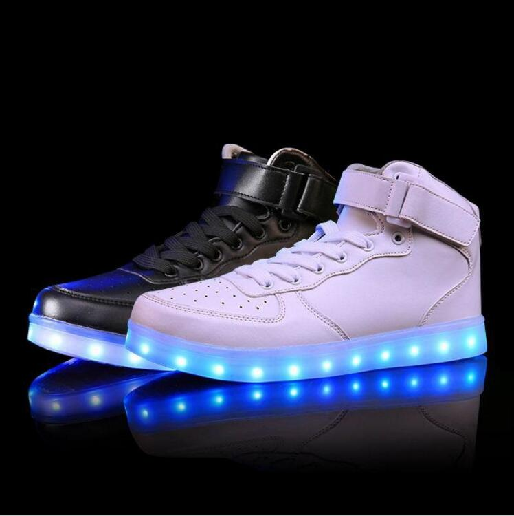 Led Luminous USB Charging Lights shoes 7 Colors 2017 New Fashion Led Shoes Casual Women &amp; Men Shoes Big Size Size 35-46<br><br>Aliexpress