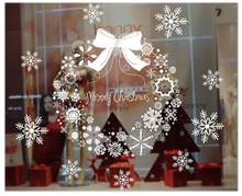 MEOF Christmas Window Stickers Vinyl DIY Star Snow Angel Wall Decals for Family Mutfak Duvar Room Shop Decoration Gift(China)