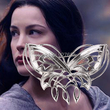 free shipping European and American film surrounding Arwen butterfly brooch brooch Hobbit Evening Star #3220